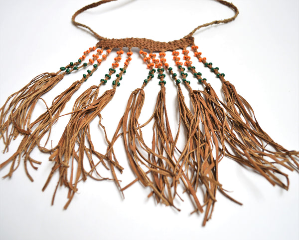 leather necklace, Gipsy hippie necklace