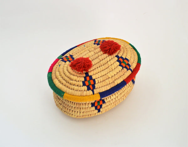 Nubian wicker Jewelry box
