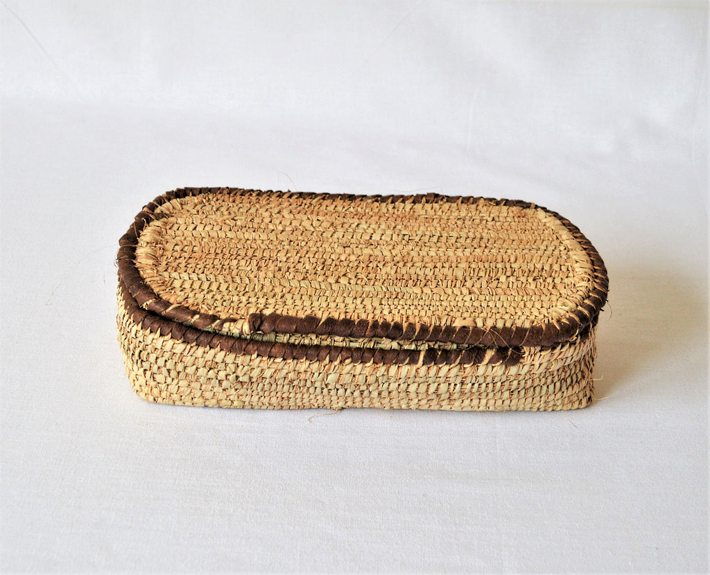 Boho jewelry Box, Straw Box