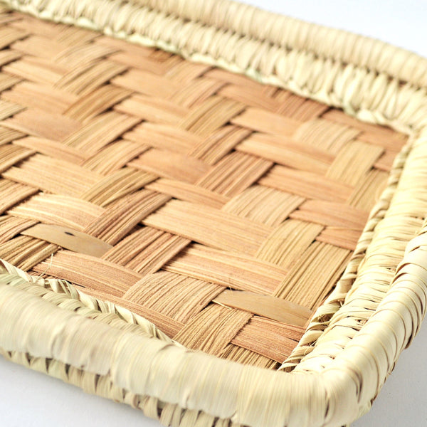 Rectangle Palm leaves hand woven basket