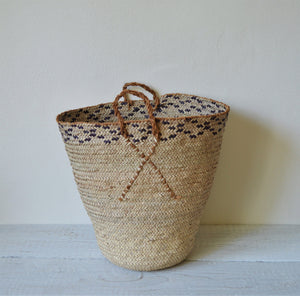 Rustic blue and neutral basket
