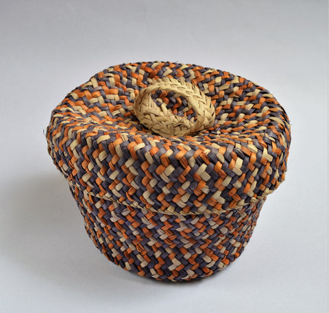 Colorful straw socks basket