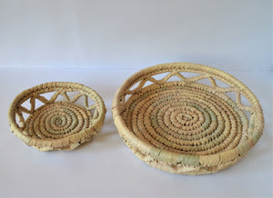 Wicker baskets set of 2
