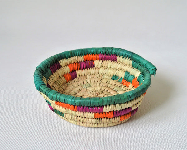 Straw bowl, Small woven bowl, Small plate