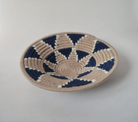 Nubian wool platter for fruits and wall decor, African wool basket