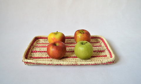 Bread straw tray, Fruit platter