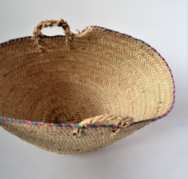 Doum palm storage basket