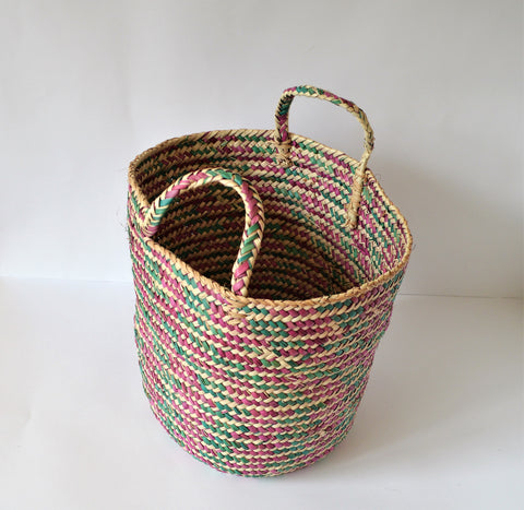 Straw basket HANA, Home storage basket