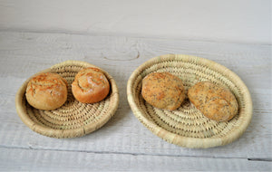 2 Woven palm leaves plates