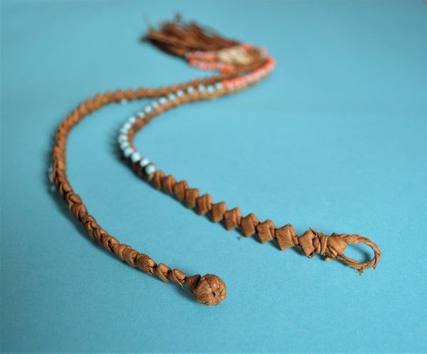 African leather necklaces, Ethnic Egyptian jewelry, Gypsy seashell necklace