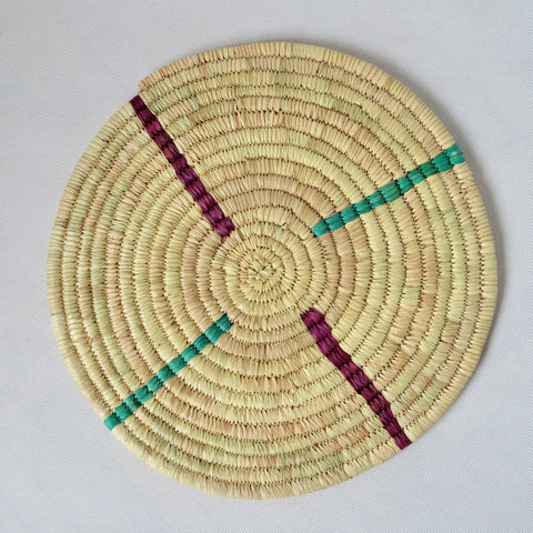 Round woven wall and table Decor