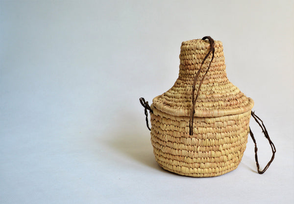 Woven Trinket Box, Ethnic African pot with a lid