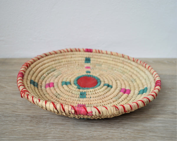 Woven decor wall basket, Living room decor