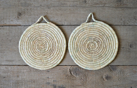 Natural palm trivet, Braided trivet