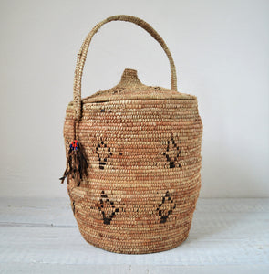 Rustic woven basket, Tribal Berber Basket