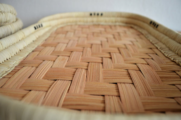 Large woven bread plate (Rectangle)