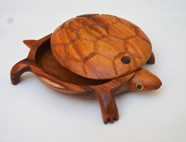 Handmade turtle jewelry box, wedding gift