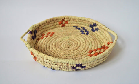 Nubian plate, Handwoven, Fruit plate