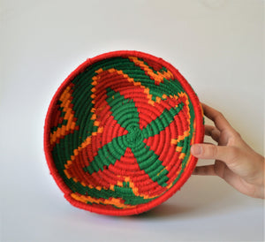 Ethnic  Egyptian wool palm fruit plate