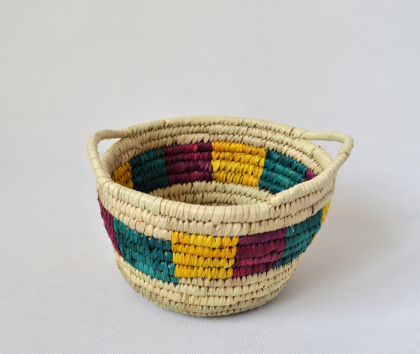 Natural fruit bowl, Round woven basket