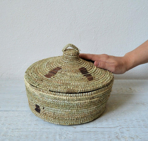 Boho chic versatile home decor basket