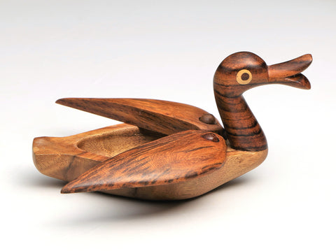 Wooden duck jewelry holder or toy