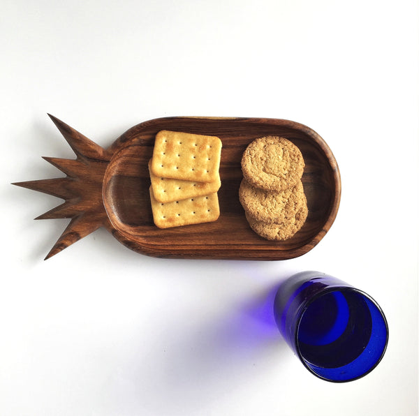 Pineapple wooden platter