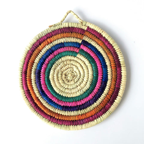Woven palm-leaves trivet