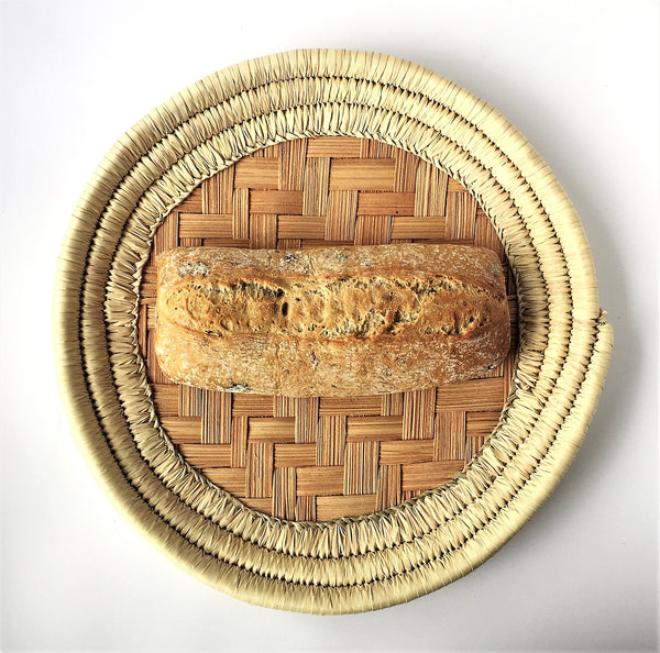 Round Palm leaves hand woven basket