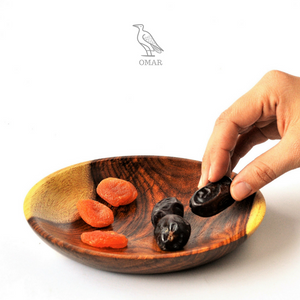 Hand-turned Wooden snack plate
