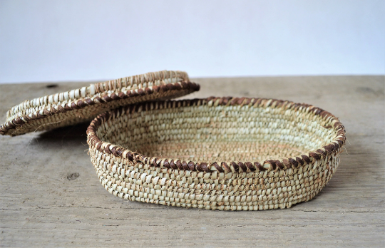 Woven jewelry box, Straw jewelry box