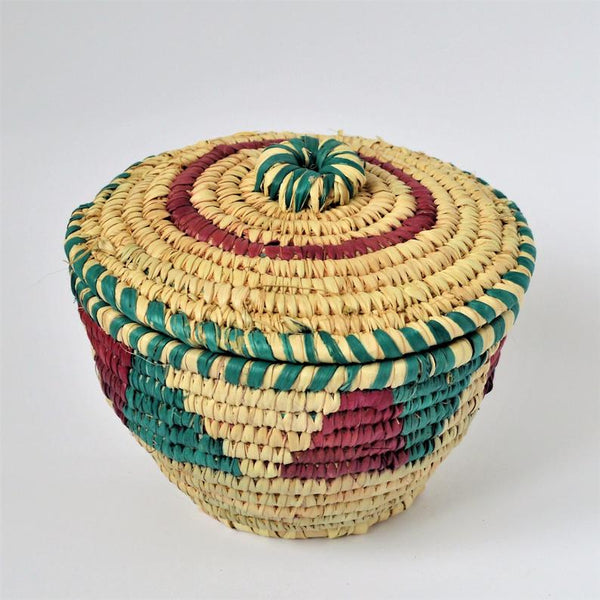 Big Nubian lidded fruit bowl