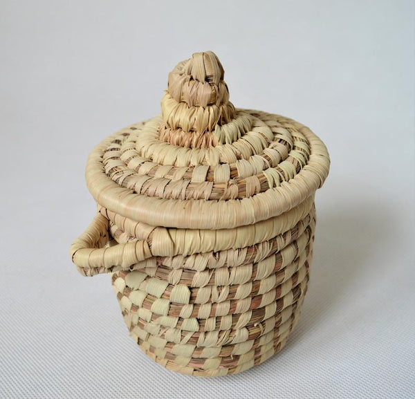 Wicker spices basket, Hand woven Palm leaf