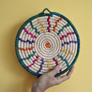 Woven African plate