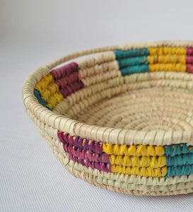 Decor colorful woven platter