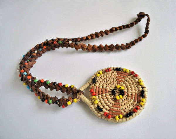 Traditional African leather necklace (Made in Egypt)