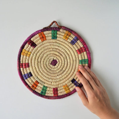 Woven trivet and wall decor