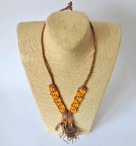 Egyptian leather necklace