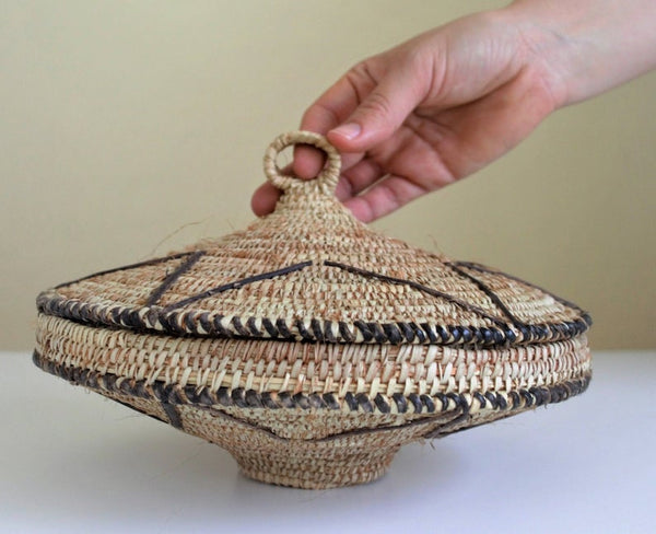 Egyptian woven African basket from Shalateen