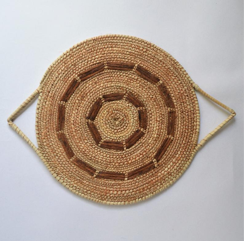 Tribal Moroccan style wall basket Rustic