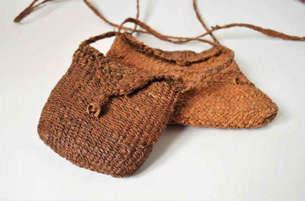 Primitive braided leather bag cross body mini bag
