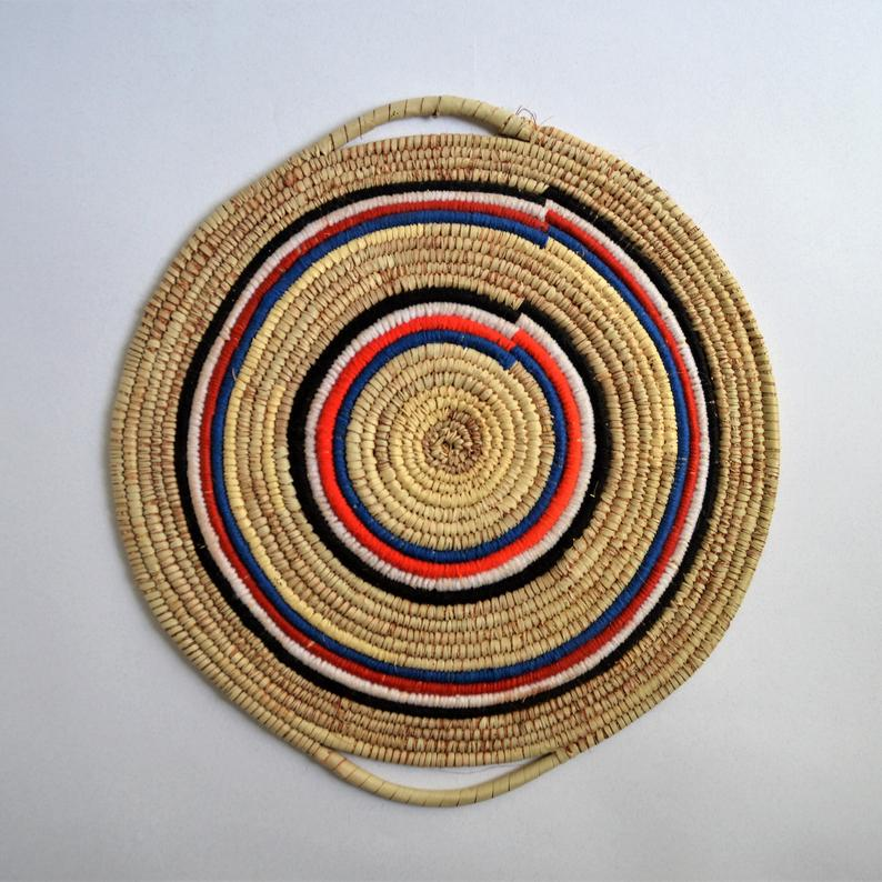 Tribal wall basket