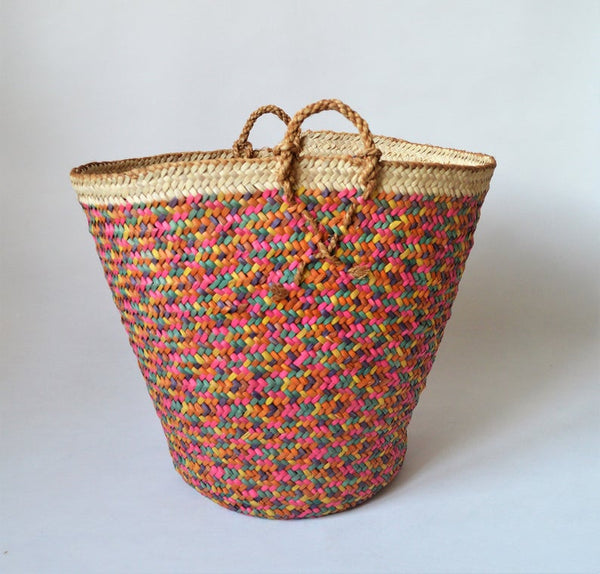 Vintage braided basket, Big African basket, Unique collectible