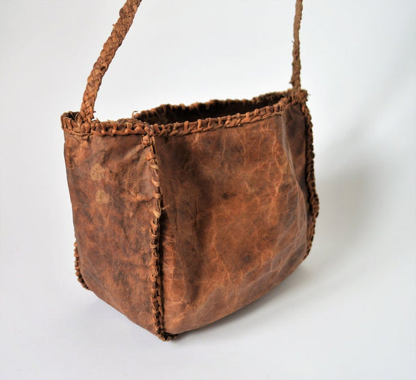 Desert Ethnic leather bag, Goat leather Tribal Style