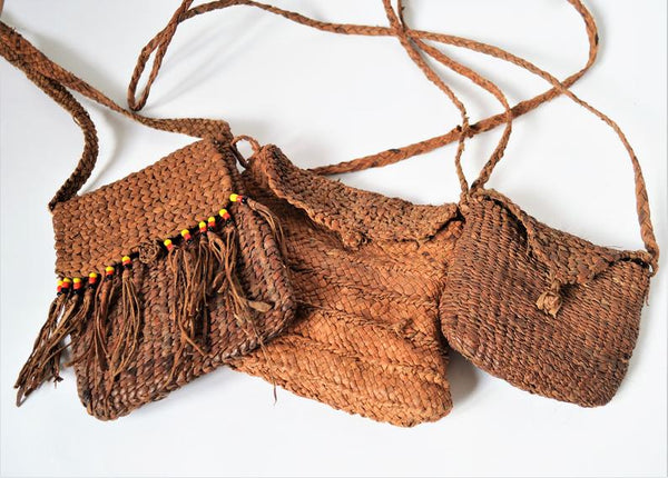 Tribal leather bag handmade in Shalateen Egypt