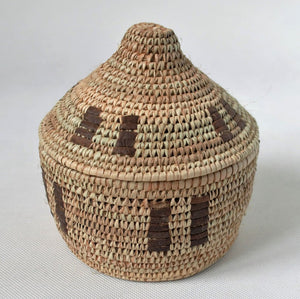 Decorative woven box