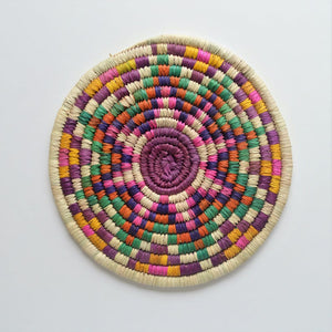 Pink woven plate, Wall Decor
