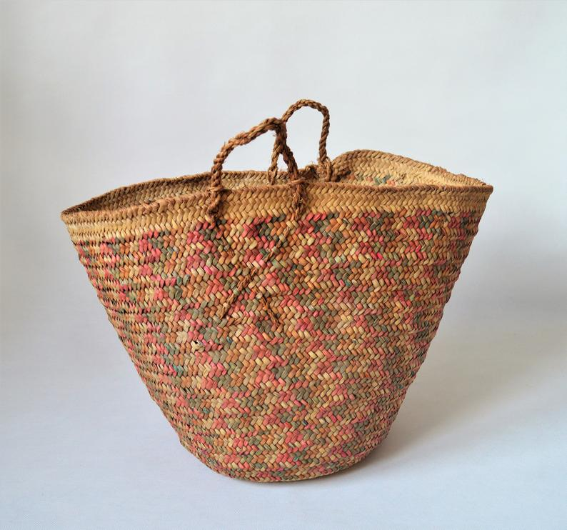 Rustic decor basket, Vintage African baskets