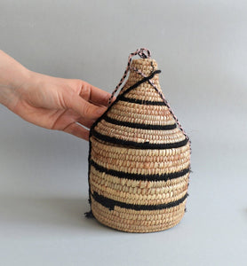 Woven African canister with lid