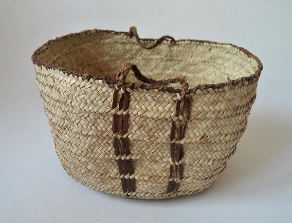 Round tribal style storage basket